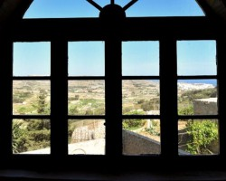Views from bedroom at Tibna Farmhouse, Xaghra – Gozo
